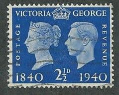 1940 2.5d 'CENTENARY OF FIRST POSTAGE STAMPS' FINE USED