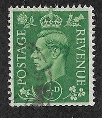1941  0.5d 'PALE GREEN' FINE USED