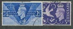 1946 SET 'PEACE' (2v) FINE USED