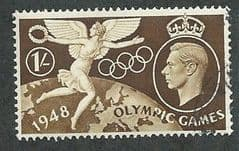1948 1/- ' OLYMPIC GAMES'  FINE USED
