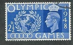 1948 2.5d ' OLYMPIC GAMES'  FINE USED