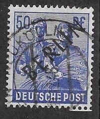 1948 50pf 'REAPER' (OVPT 'BERLIN') FINE USED*