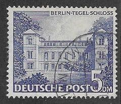 1949 5DM 'TEGEL SCHLOSS' FINE USED *