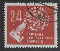 1950 24pf  ' EAST GERMANY - PEOPLES VOTE' FINE USED*