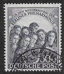 1950 30pf +5 'BERLIN PHILHARMONIC CHOIR' FINE USED *