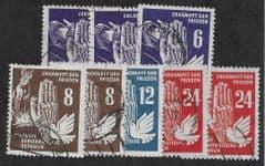 1950 8X 'DDR - PEACE PROPAGANDA' FINE USED*