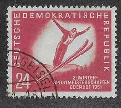 1951 24pf 'DDR- WINTER SPORTS' FINE USED*