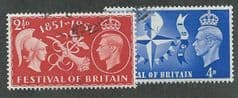 1951 SET ' FESTIVAL OF BRITAIN' (2v)  FINE USED