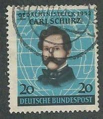 1952 20pf 'CARL SCHURZ' FINE USED*