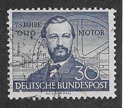 1952 30pf '75TH ANN OF THE OTTO MOTOR' FINE USED*