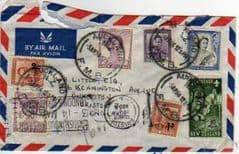 1954 NEW ZEALAND 'MULTI STAMPED' COVER.