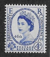 1957 U/M 4d '46TH PARLIAMENTARY CONFERENCE'