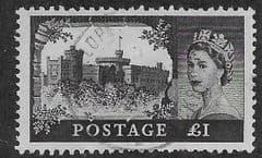 1959 £1.00 'CASTLES- BLACK' FINE USED