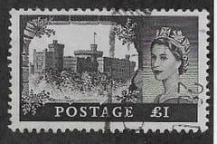 1959 £1.00 'CASTLES- BLACK'  PARCEL USED