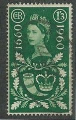 1960 1/-3d '300TH ANN OF GENERAL LETTER'  FINE USED