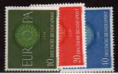 1960 U/M SET 'EUROPA' (3v) *