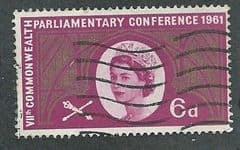 1961 6d 'COMMONWEALTH PARLIAMENTARY CONFERENCE' FINE USED