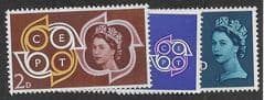 1961 U/M (SET) 'EUROPEAN POSTAL AND TELECOMS' (3v)