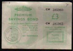 1962 '£3.00 'PREMIUM BOND' CERTIFICATE