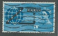 1963 1/6d 'COMMONWEALTH CABLE' (ORDINARY)   FINE USED