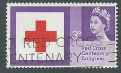 1963 3d 'RED CROSS CENTENARY' (ORDINARY)  FINE USED