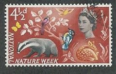 1963 4.5d 'NATIONAL NATURE WEEK' (ORDINARY) FINE USED