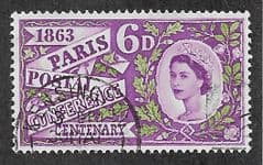 1963 6d 'PARIS POSTAL CONFERENCE' (ORDINARY) FINE USED