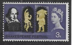 1964 3d 'SHAKESPEARE FESTIVAL'(ORD)(PERFIN 'C OF A') FINE USED
