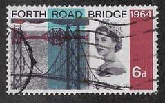 1964 6d 'FORTH ROAD BRIDGE' FINE USED