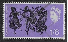 1965 1/6d 'COMMONWEALTH ARTS FESTIVAL' (ORD) FINE USED