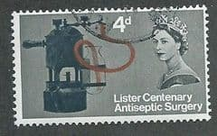 1965 4d ' LISTER CENTENARY' (ORD) FINE USED