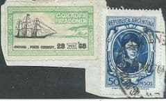 1965 'PATAGONIA WELSH POST WITH ARGENTIAN STAMP' FINE USED*