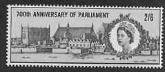 1965 U/M 2/6d  '700TH ANN OF PARLIAMENT' (ORD)
