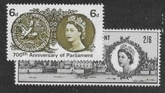 1965 U/M  (SET) '700TH ANN OF PARLIAMENT' (ORD)(2v)