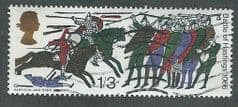 1966 1/-3d 'BATTLE OF HASTINGS' ( ORDINARY) FINE USED