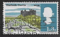 1966 1/3d 'LANDSCAPES - HARLECH CASTLE' (ORD) FINE USED
