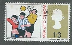 1966 1/ 3d 'WORLD CUP FOOTBALL' (ORDINARY) FINE USED