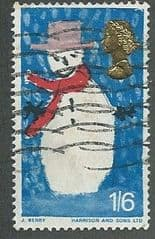 1966 1/6d 'CHRISTMAS '(ORD)  FINE USED