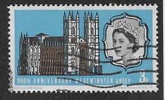 1966 3d '900TH ANN OF WESTMINSTER ABBEY' (PHOS) FINE USED