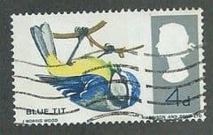 1966 4d 'BRITISH BIRDS-BLUE TIT' (PHOS)  FINE USED