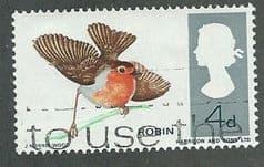 1966 4d 'BRITISH BIRDS-ROBIN (ORD) FINE USED