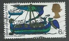 1966 6d 'BATTLE OF HASTINGS' ( ORDINARY) FINE USED