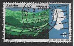 1966 6d 'LANDSCAPES - ANTRIM' (ORD) FINE USED