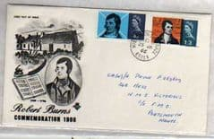 1966 ROBERT BURNS ILLUSTRATED 'ORD' FDC