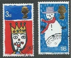 1966 SET  'CHRISTMAS '(ORD)(2v)  FINE USED