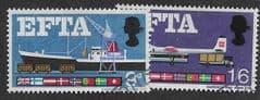 1966 (SET) 'EFTA' (ORDINARY) (2v) FINE USED