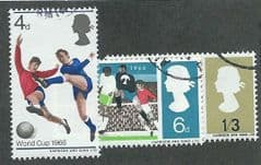 1966 SET 'WORLD CUP FOOTBALL' (ORDINARY)(3v)  FINE USED