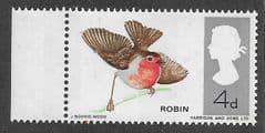 1966 U/M 4d 'BIRDS - ROBIN' (ORD)