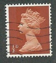 1967 1/2d 'ORANGE BROWN' FINE USED