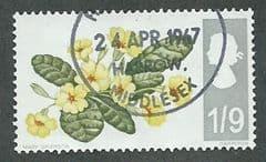 1967 1/-9d 'WILD FLOWERS' (PHOS) FINE USED